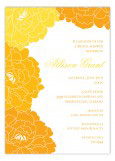 Lush Tangerine and Orange Floral Invitation