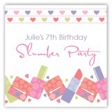 Makeover Party Square Sticker