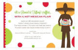 Hot Mexican Flair Margarita Party Invitations