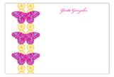 Mariposa Magenta Flat Note Card