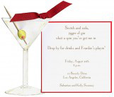 1 Olive and a Toothpick Die-Cut Martini Invitation
