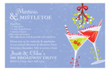 Martinis and Mistletoe Invitation