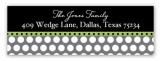 Masked Soiree Address Label