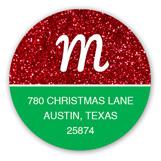 May Your Season Sparkle Round Sticker