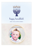Menorah Lights Photo Card