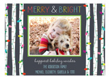 Merry and Bright Birch Lights Photo Card