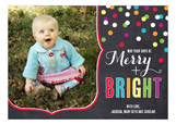 Merry and Bright Confetti Photo Card