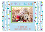 Merry and Bright Lights Photo Card