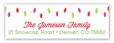 Merry Bright Lights Address Label