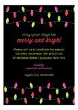 Merry Bright Lights Invitation