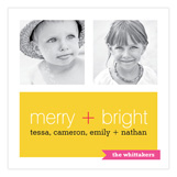 Merry + Bright Photo Card