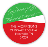 Merry Christmas Bands Round Sticker
