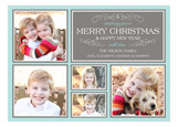 Merry Christmas Collage Photo Card