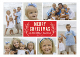 Merry Christmas Twig Collage Photo Card