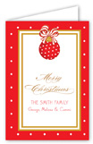 Merry Christmas Ornament Folded Note Card