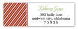 Merry Christmas Pattern Words Address Label