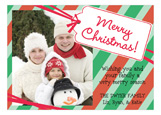 Merry Christmas Tag Photo Card