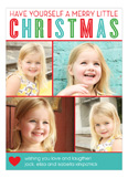 Merry Little Christmas Collage Photo Card