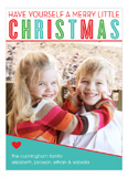 Merry Little Christmas Fun Photo Card