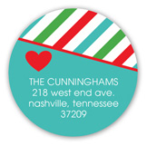 Merry Little Christmas Fun Round Sticker