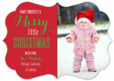 Bracket Die-Cut Merry Little Christmas Photo Card