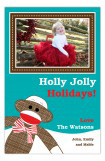 Merry Sock Monkey Photo Card