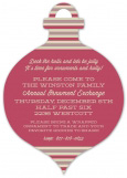 Merry Stripes Ornament Invitation