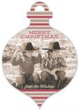 Merry Stripes Ornament Photo Card