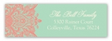 Mint And Coral Address Label