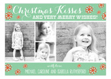 Mint Christmas Kisses Collage Photo Card