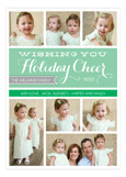 Mint Holiday Cheer Collage Photo Card