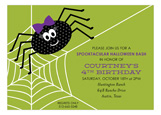 Miss Spider Invitation