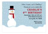 Mister Snowman Invitation