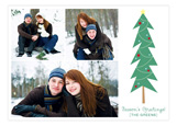 Mitten Weather Green Photo Card
