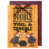 Double Trouble Witches Halloween Greeting Cards