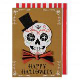Skeleton Head Halloween Greeting Cards