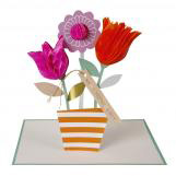 Honeycomb Flower Pot Greeting Card