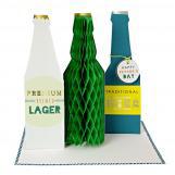 Honeycomb Beer Bottle Greeting Card