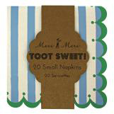 Toot Sweet Blue Stripe Small Napkin