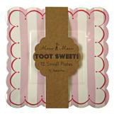 Toot Sweet Pink Stripe Small Plates