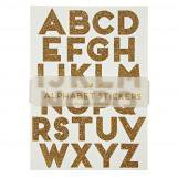 All Wrapped Up Gold Alphabet Stickers