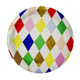 Toot Sweet Harlequin Large Round Plate