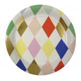 Toot Sweet Harlequin Small Round Plate