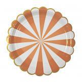 Toot Sweet Large Orange Striped Plate
