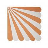 Toot Sweet Orange Stripe Small Napkin