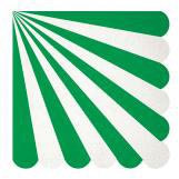 Diecut Green Stripe Large Napkins