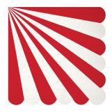 Diecut Red Stripe Large Napkins