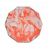 Marble Neon Orange Pattern Small Plate