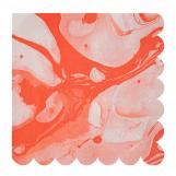 Marble Neon Orange - Large Napkins