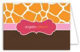 Mod Giraffe Girl Note Card